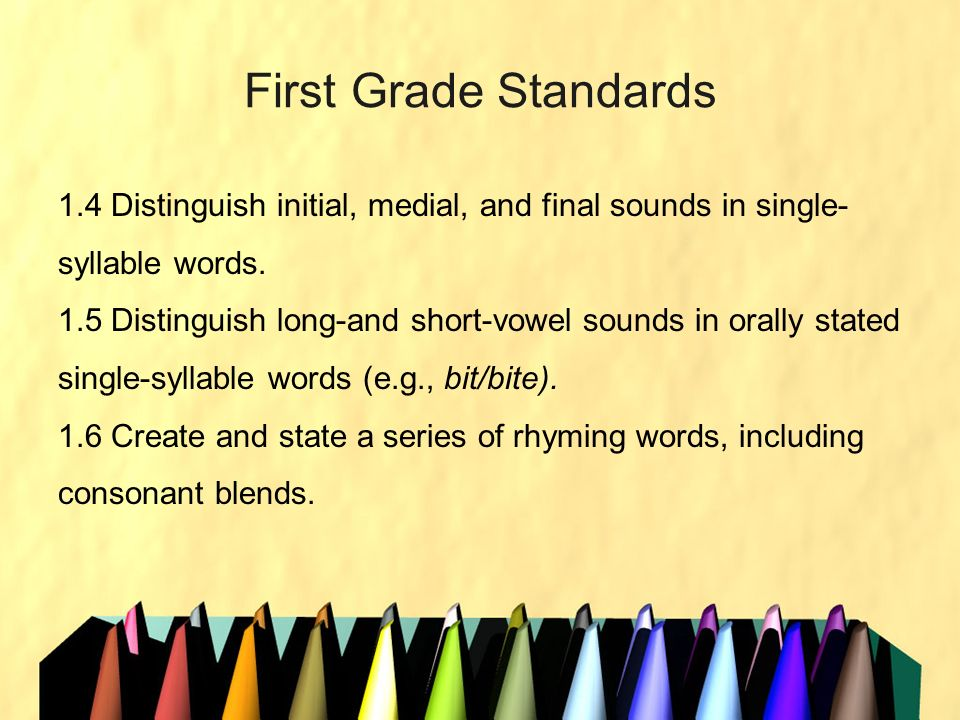 First Grade Standards