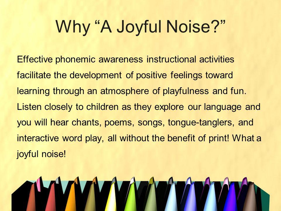 Why A Joyful Noise