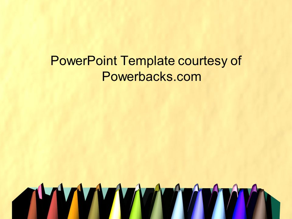 PowerPoint Template courtesy of Powerbacks.com