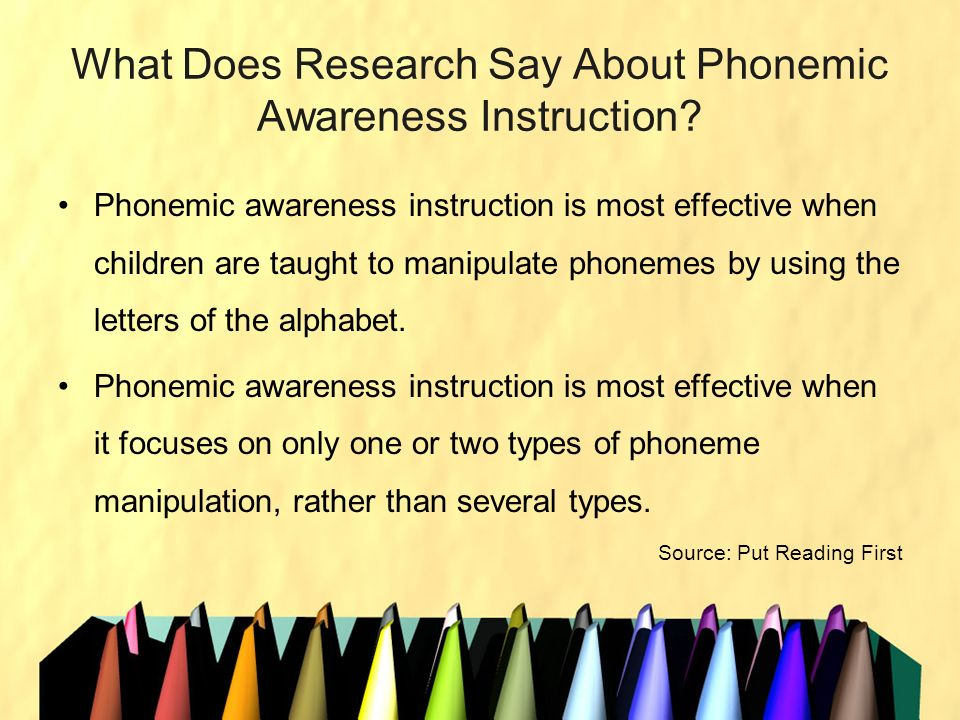 What Does Research Say About Phonemic Awareness Instruction