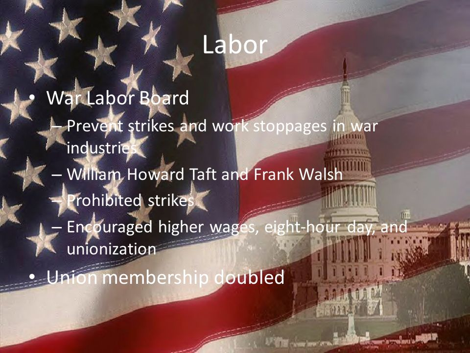 Labor War Labor Board Union membership doubled