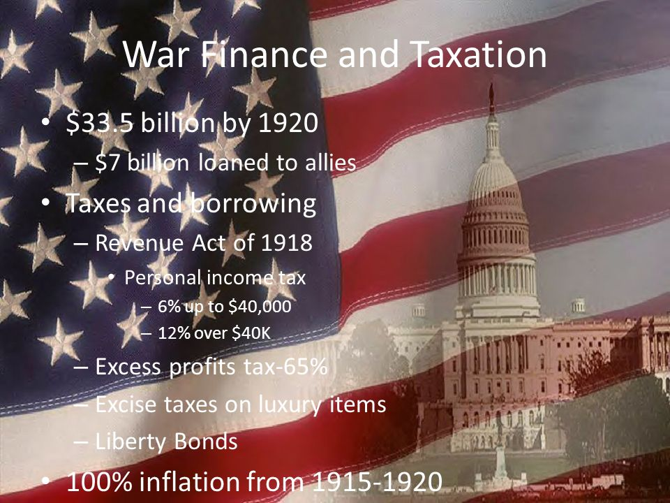 War Finance and Taxation