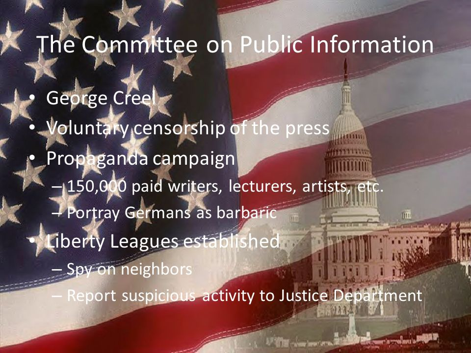 The Committee on Public Information