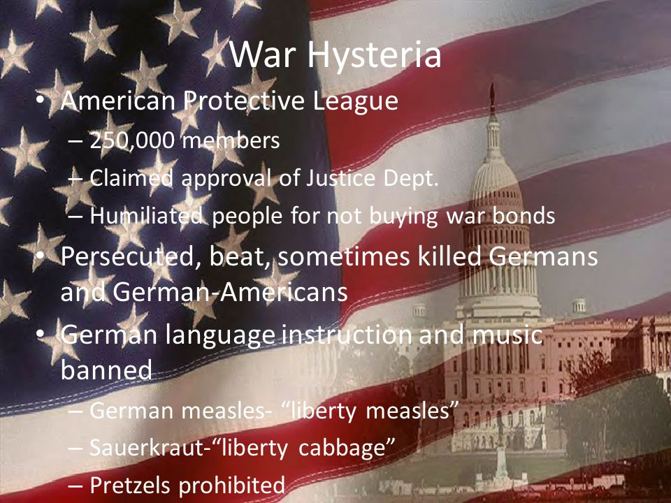 War Hysteria American Protective League