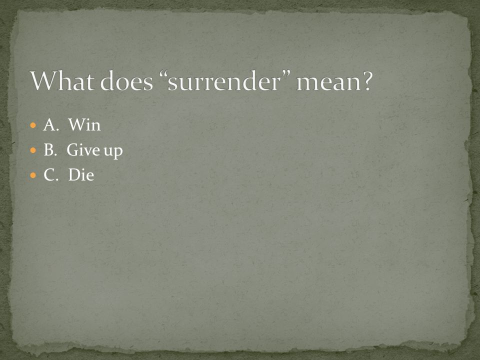 What does surrender mean