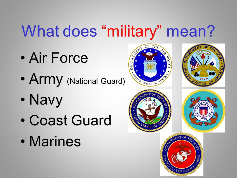 What does military mean