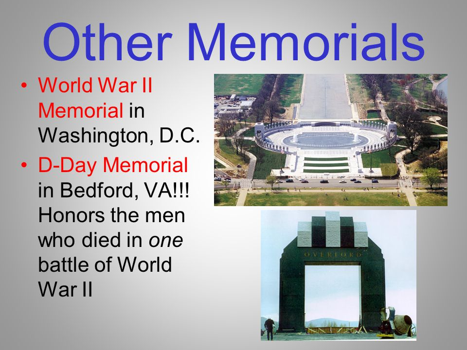 Other Memorials World War II Memorial in Washington, D.C.