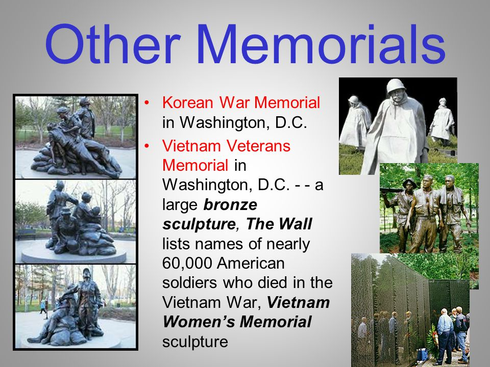 Other Memorials Korean War Memorial in Washington, D.C.