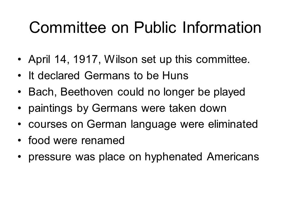 Committee on Public Information