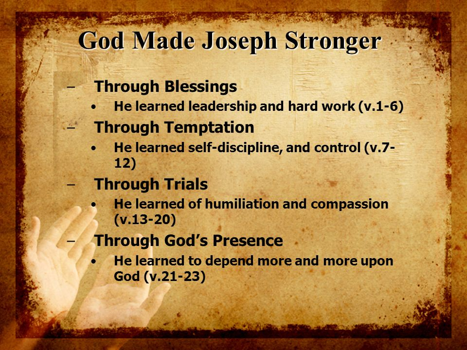 God Made Joseph Stronger