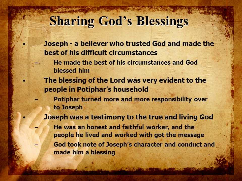 Sharing God's Blessings