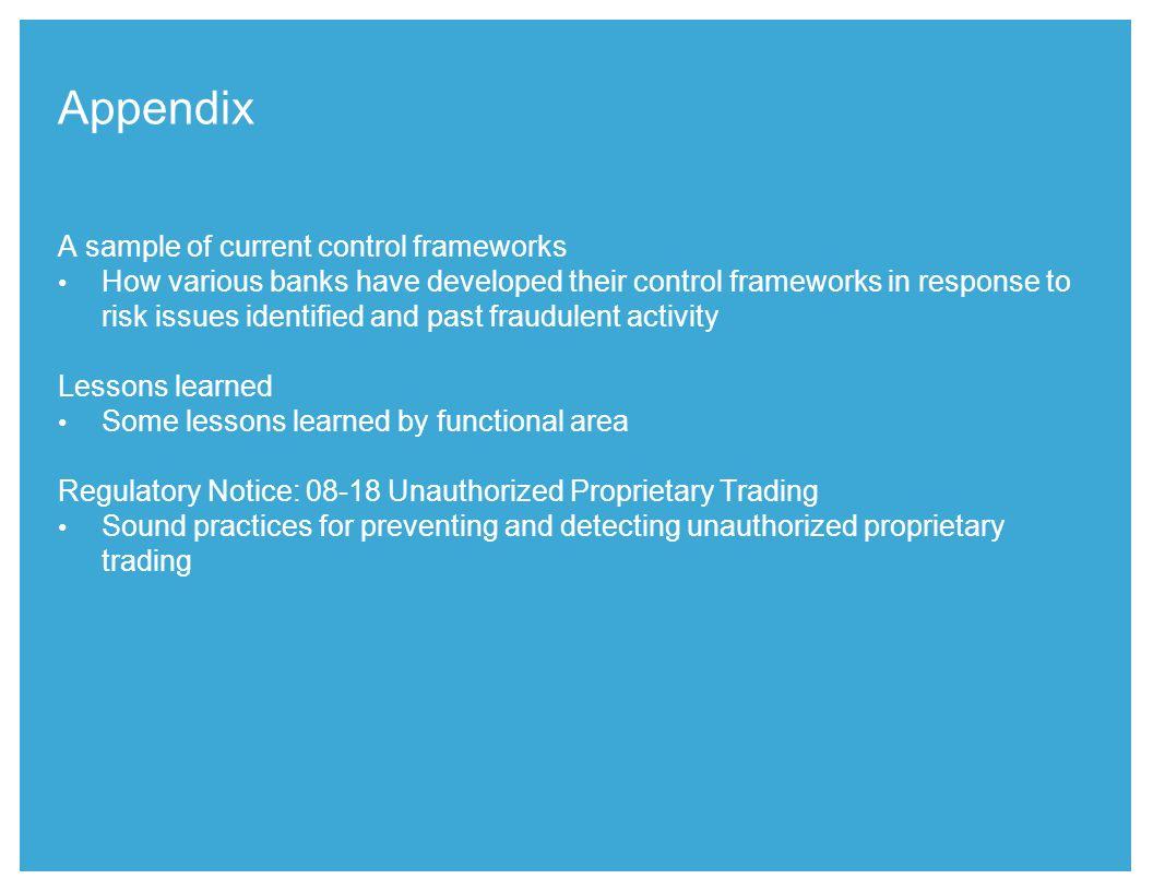 Appendix A sample of current control frameworks