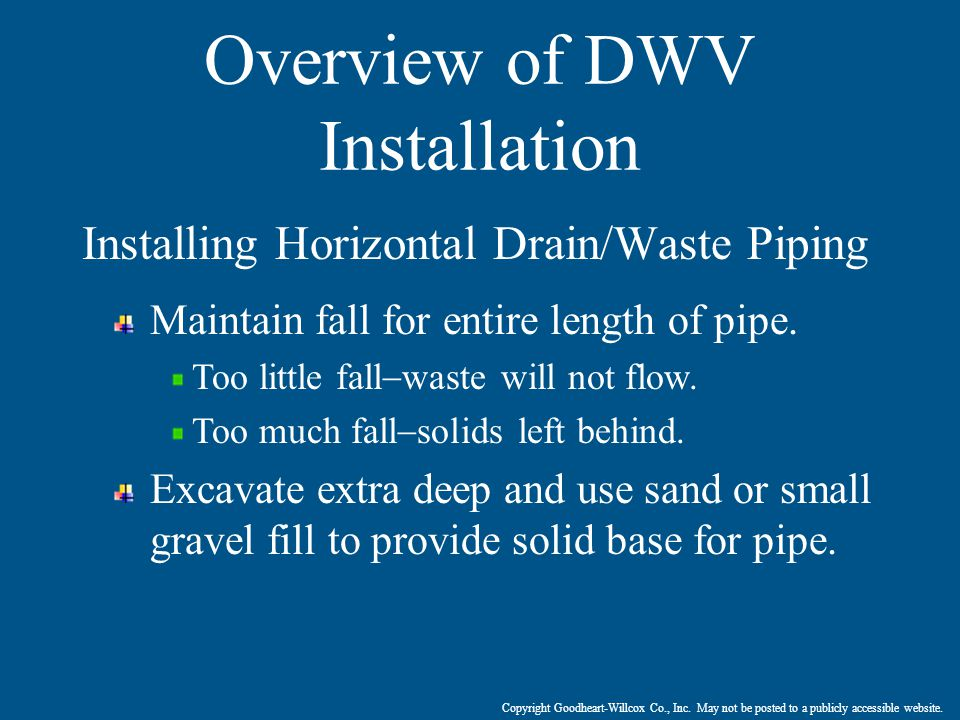 Overview of DWV Installation