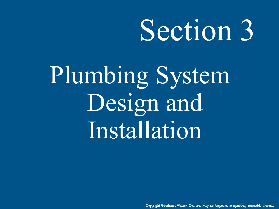 Plumbing System Design and Installation