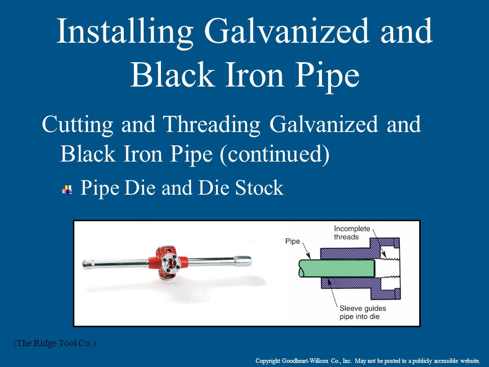 Installing Galvanized and Black Iron Pipe