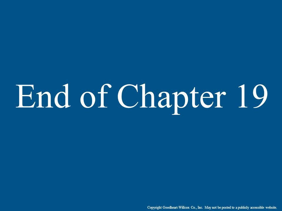 End of Chapter 19