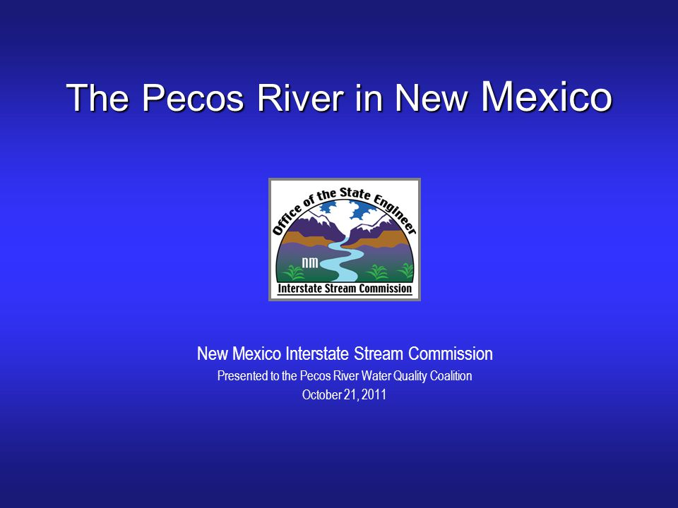 The Pecos River in New Mexico