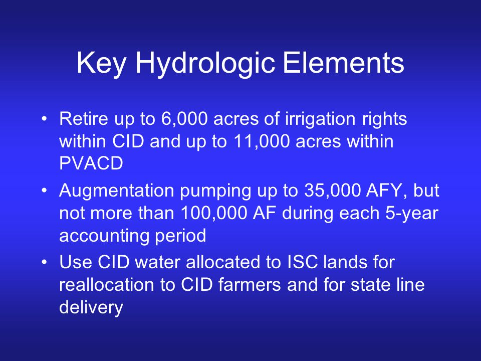 Key Hydrologic Elements