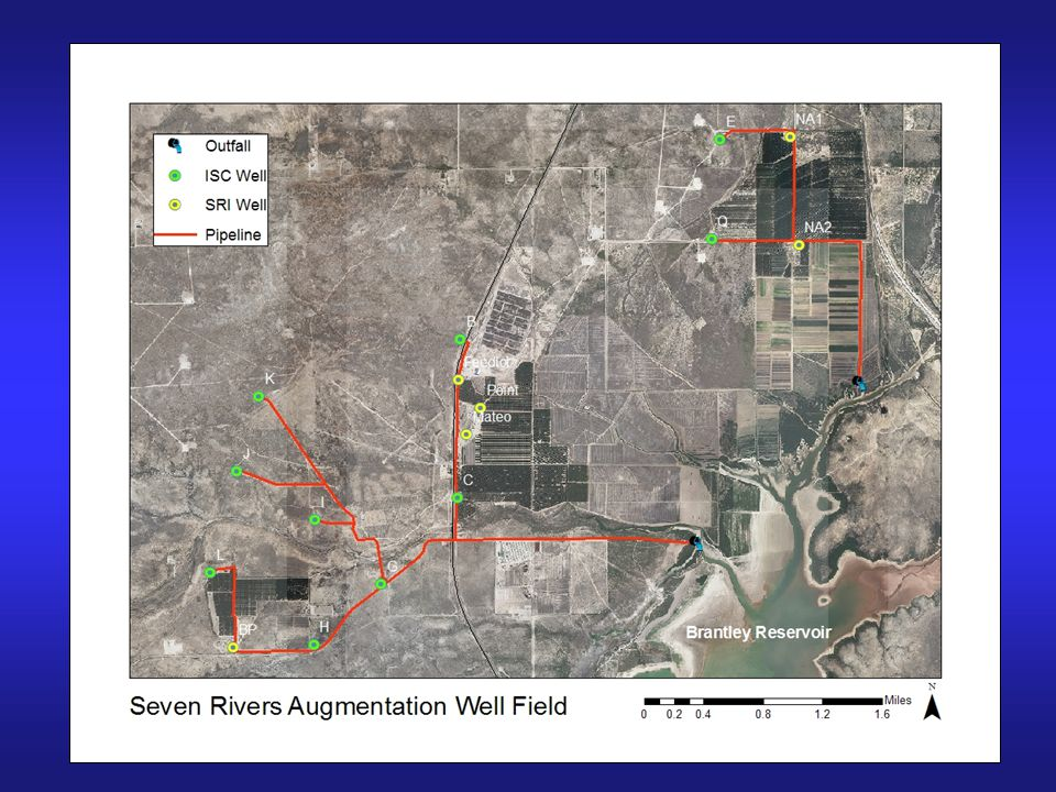 11.5 miles of pipeline, 2 outfall structures, 10 ISC wells, 3 SRI wells