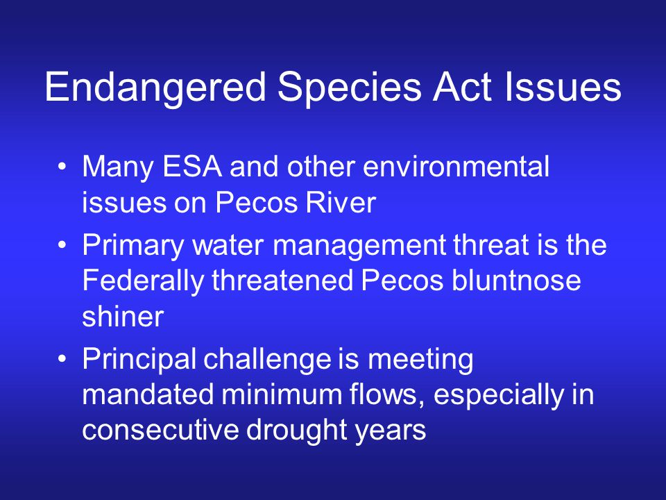 Endangered Species Act Issues