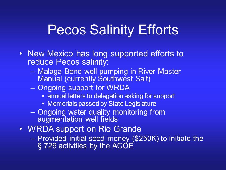 Pecos Salinity Efforts