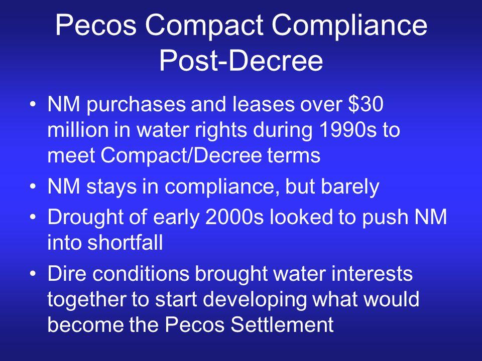 Pecos Compact Compliance Post-Decree