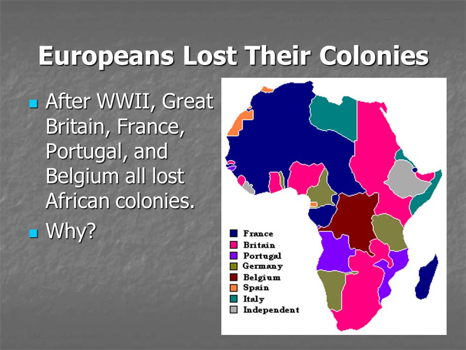 Europeans Lost Their Colonies