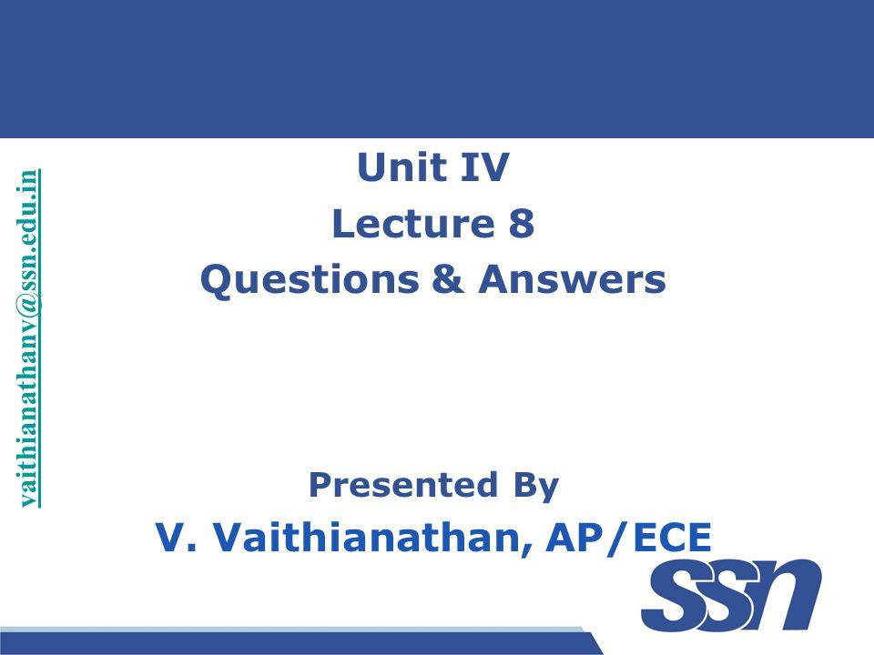 V. Vaithianathan, AP/ECE