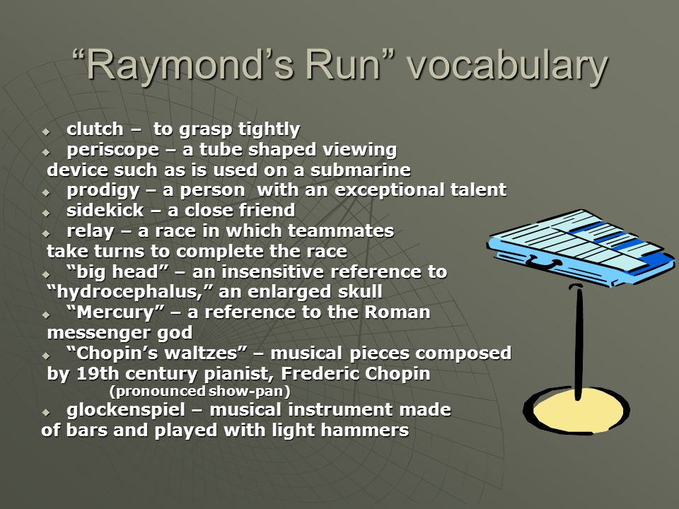 Raymond's Run vocabulary