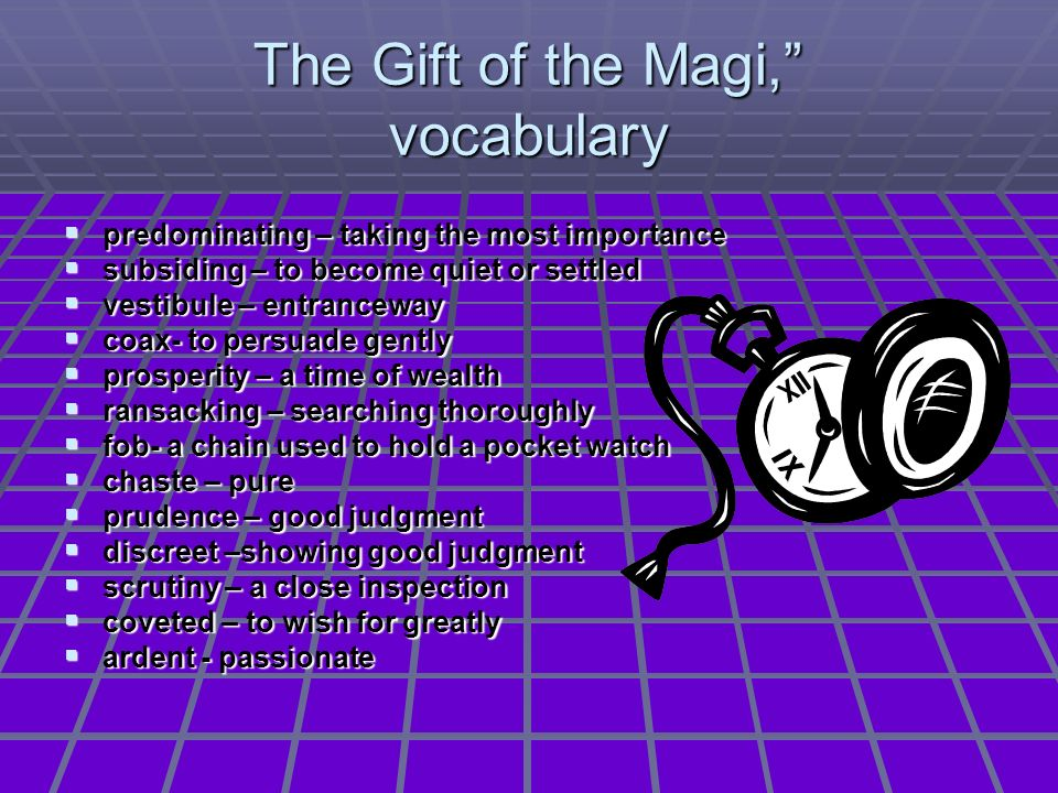 The Gift of the Magi, vocabulary