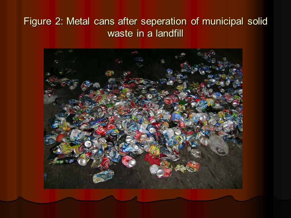 Figure 2: Metal cans after seperation of municipal solid waste in a landfill