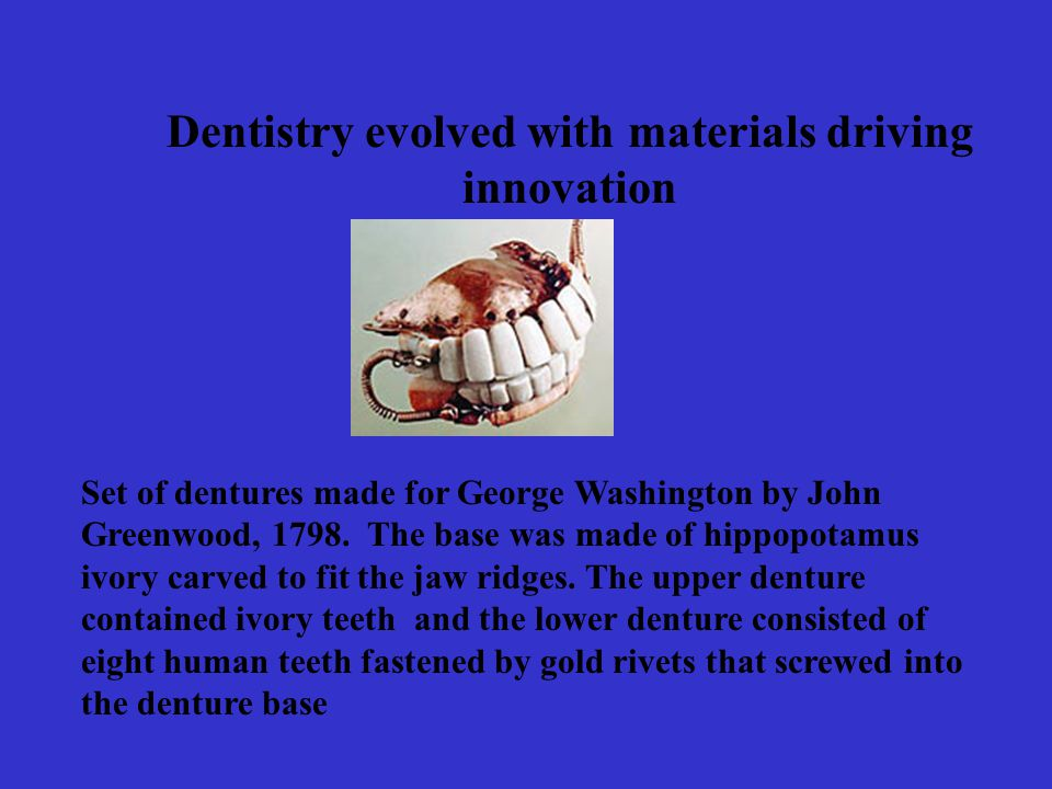 Dentistry evolved with materials driving innovation