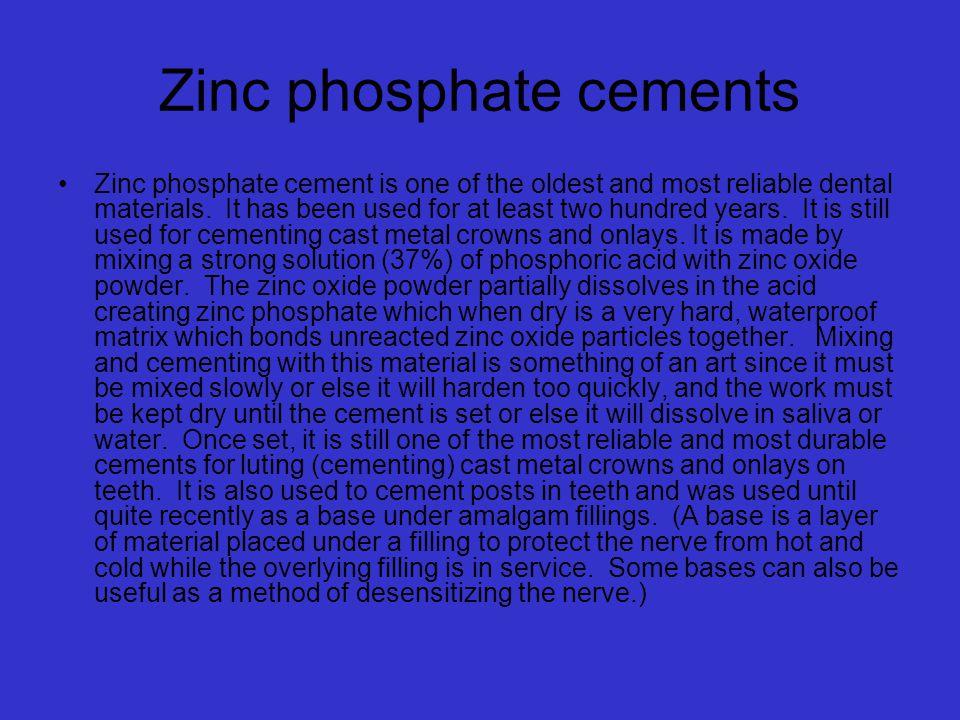 Zinc phosphate cements