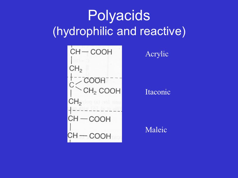 Polyacids (hydrophilic and reactive)