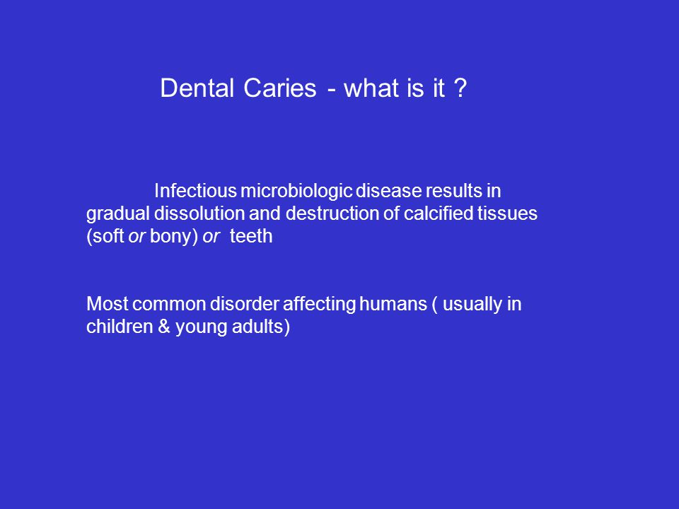 Dental Caries - what is it