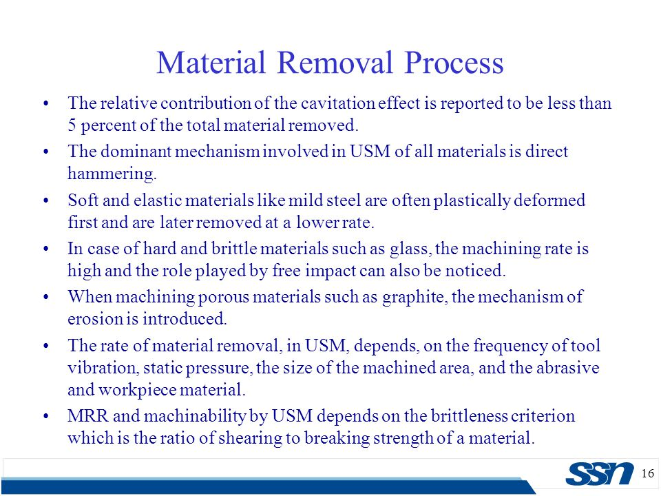 Material Removal Process