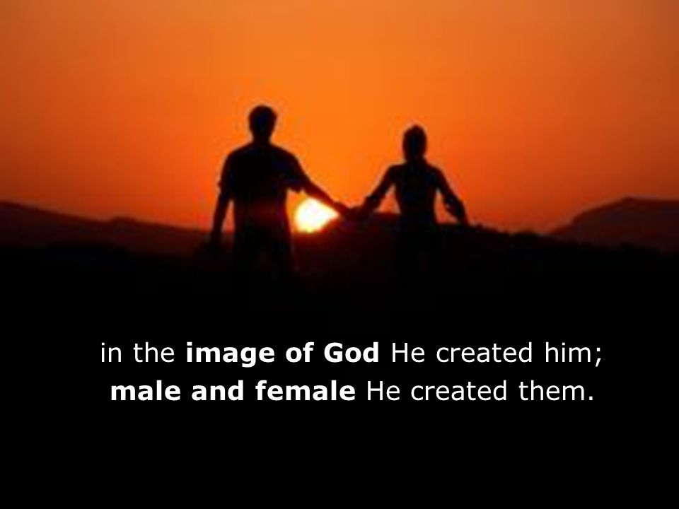 f f in the image of God He created him;