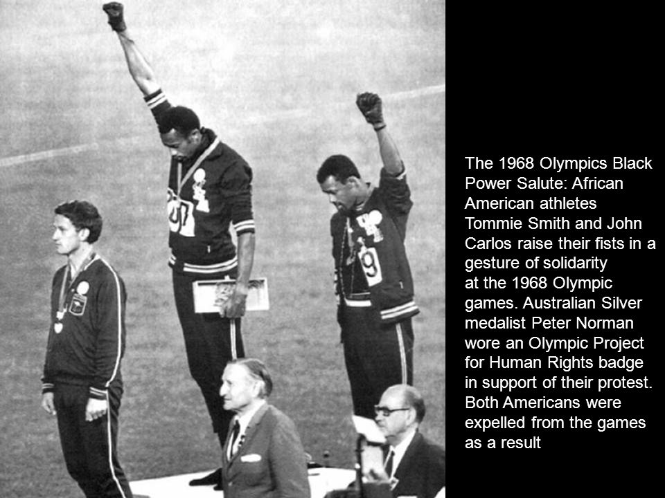 The 1968 Olympics Black Power Salute: African American athletes