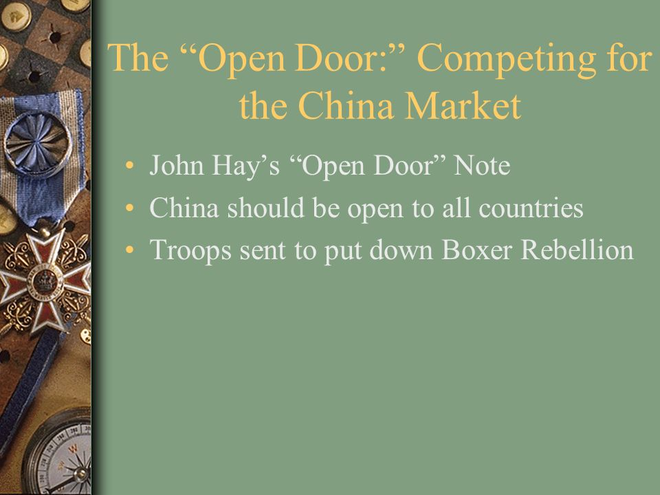 The Open Door: Competing for the China Market