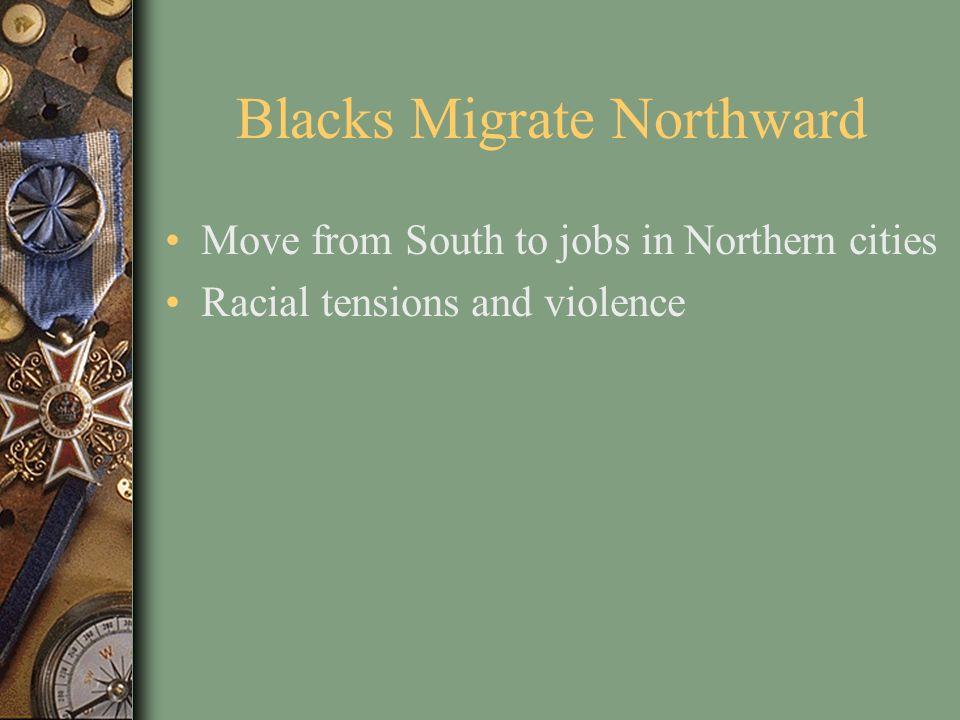Blacks Migrate Northward