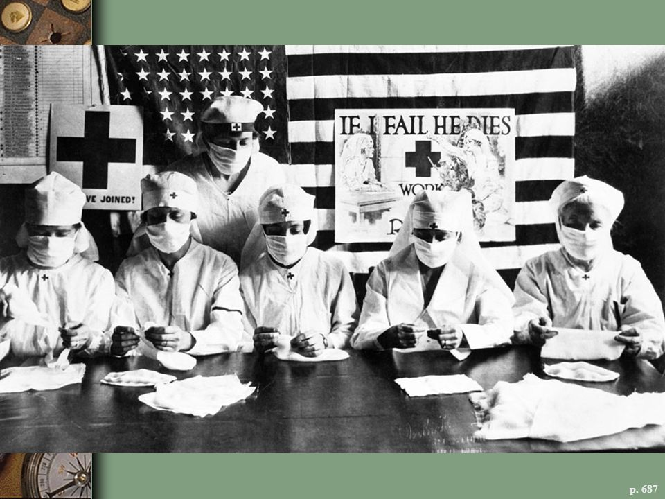 BATTLING INFLUENZA, 1918 Red Cross workers like these in Philadelphia and other public-health professionals mobilized to combat a deadly epidemic that claimed over half a million American lives.
