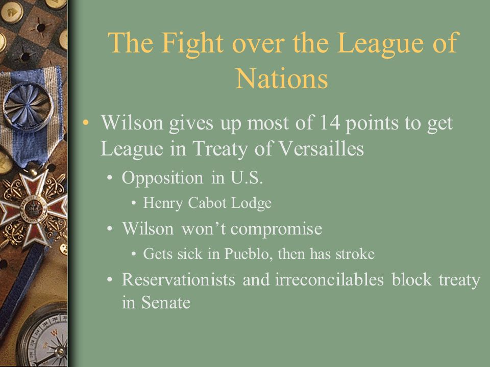The Fight over the League of Nations