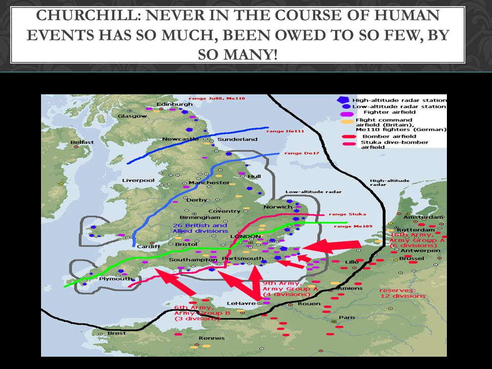 Churchill: Never in the course of human events has so much, been owed to so few, by so many!