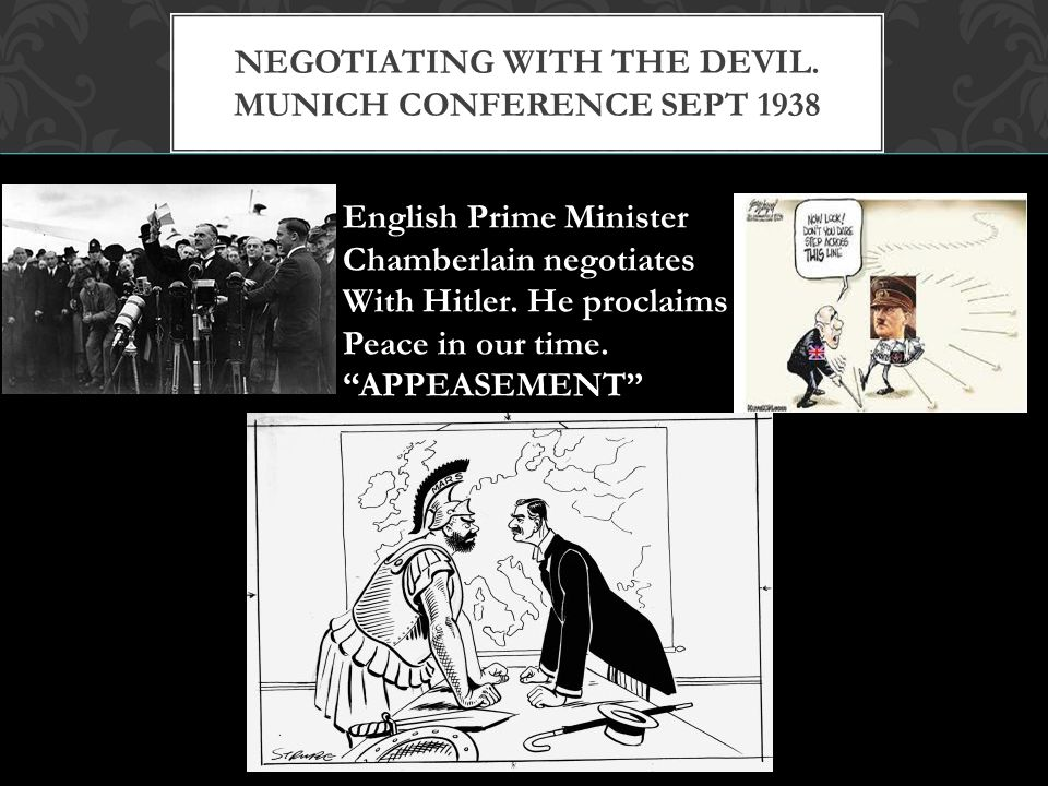 Negotiating with the Devil. Munich Conference Sept 1938