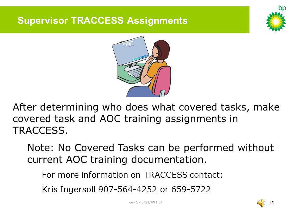 Supervisor TRACCESS Assignments