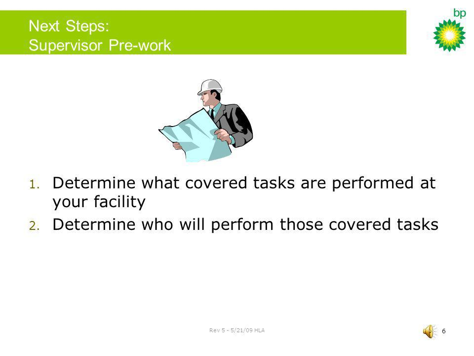 Next Steps: Supervisor Pre-work