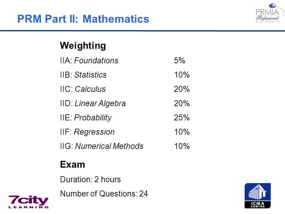 PRM Part II: Mathematics