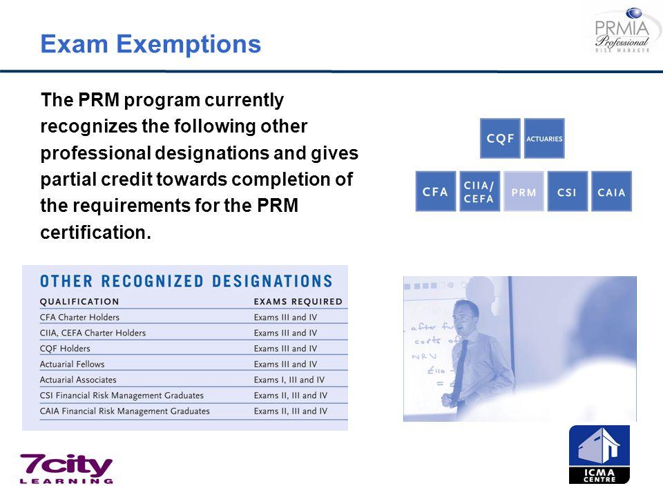 Exam Exemptions