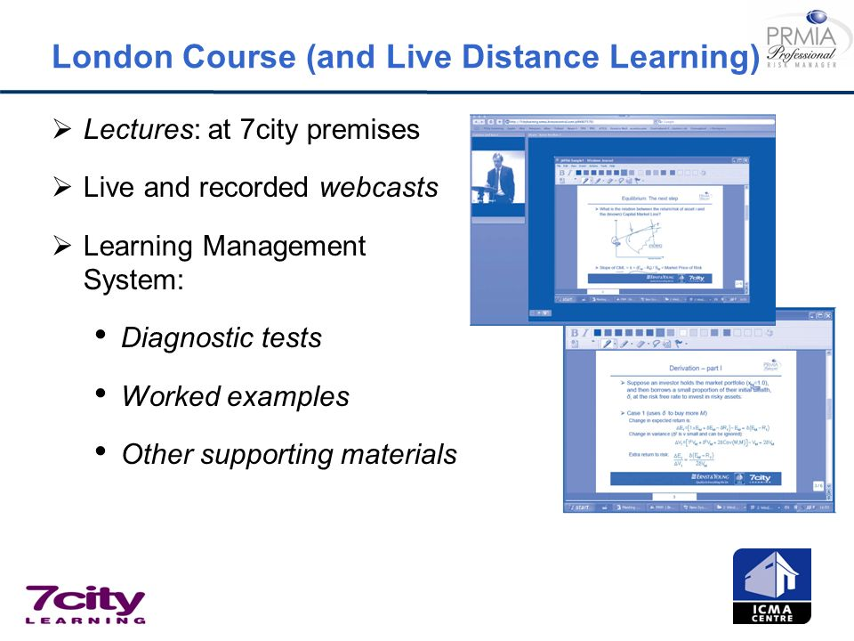 London Course (and Live Distance Learning)
