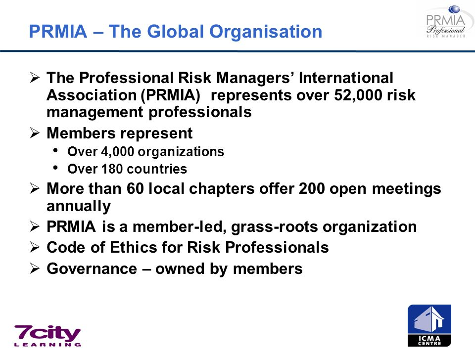 PRMIA – The Global Organisation
